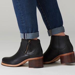 Clarks💕Clarksdale Dawn Black Leather Ankle Bootie
